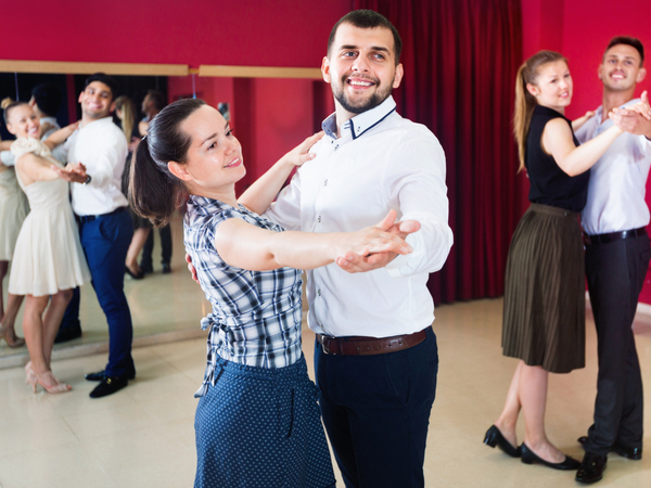 A Group Of Couples In Dance Studio