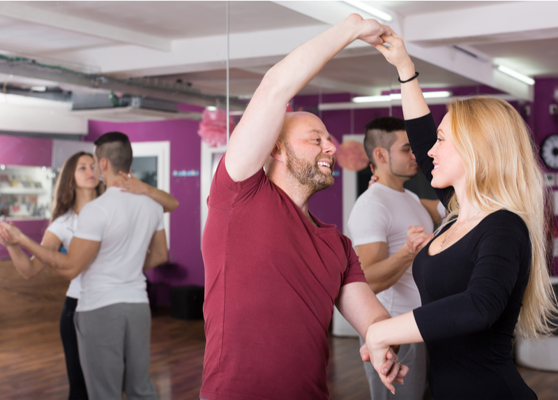 Adults joining Ballroom Dance Lesson