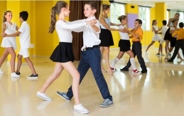 Children In Ballroom Dance Lesson