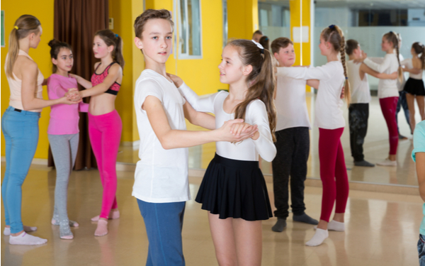 Children Learning Ballroom Dance