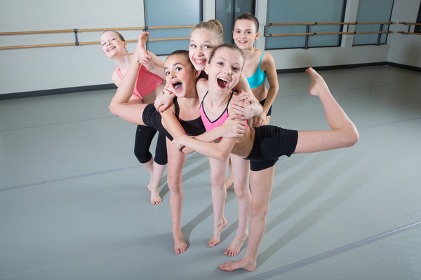Kids having fun in dance class