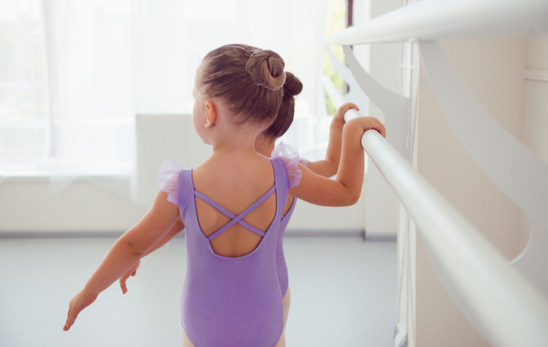 Little Girls Learning Ballet