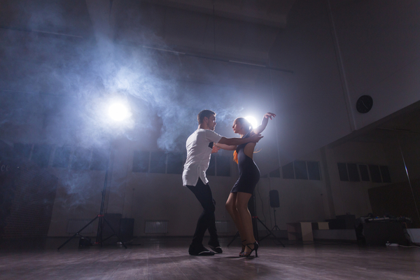 Pair Dancing Ballroom In Studio