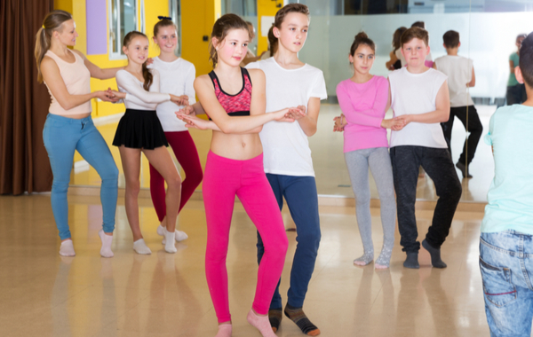 Pre Teens Having Dance Class