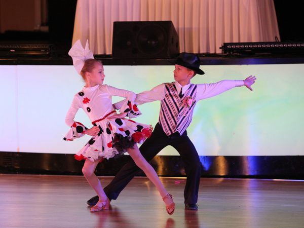 Boy and girl joined Ballroom Dance Competition