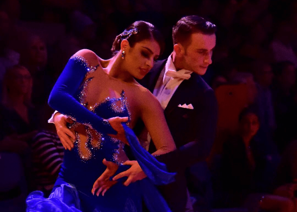 Ballroom dancers in a competition